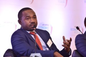 Japheth speaking during the just concluded LEO - Africa Summit in Kampala