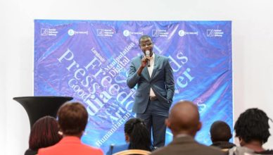 Philip Ogola aka Digital Humanitarian at the Uganda Social Media Conference.  Photo Credit : KAS -Uganda & South Sudan